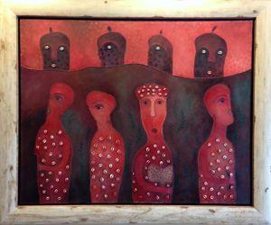 Manuel MENDIVE - Peinture - Shango