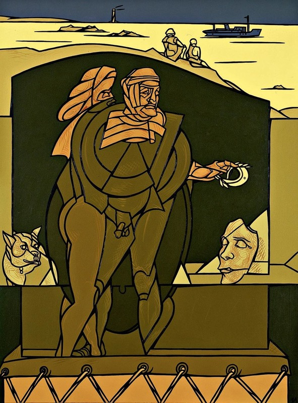 Valerio ADAMI - Peinture - Bassorilievo