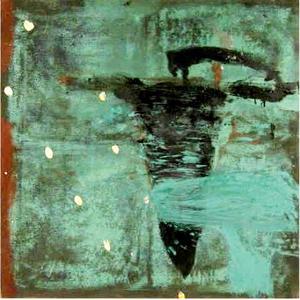 Tony SOULIÉ - Pintura - Abstraction verte