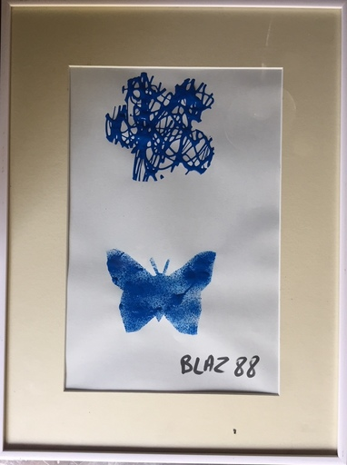 BLAZ 88 - Dibujo Acuarela - CORONA III ORDRE ET DESORDRE