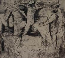 Marino MARINI - Print-Multiple - Il teatro delle maschere