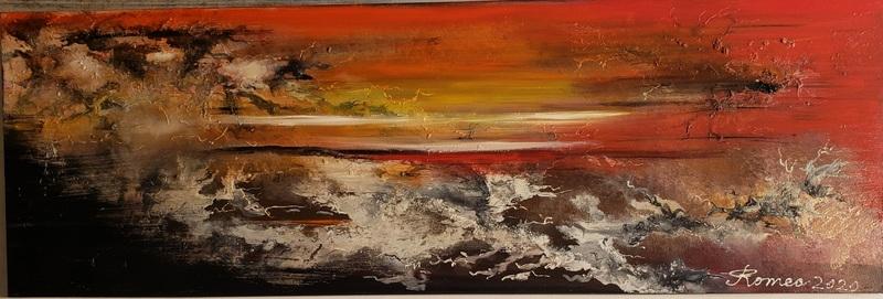 Romeo DOBROTA - Painting - Heaven and Hell,