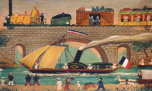 Hector TROTIN - Pintura - PREMIER TRAIN PARIS - LE VESINET