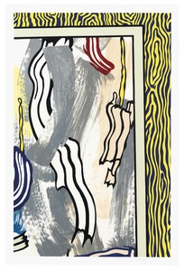 Roy LICHTENSTEIN - Stampa-Multiplo - Painting on Blue and Yellow Wall