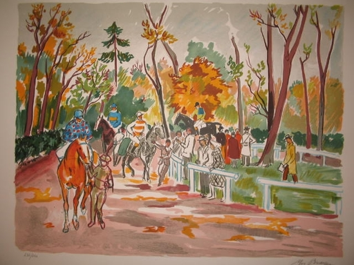 Yves BRAYER - 版画 - Vers le départ,1974.