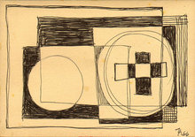 Thilo MAATSCH - Dibujo Acuarela - o.T. (Konstruktivistische Skizze)