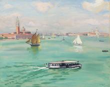 阿尔伯特·马尔凯 - 绘画 - Venise, le Vaporetto