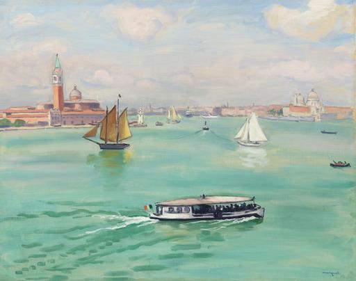 Albert MARQUET - Painting - Venise, le Vaporetto