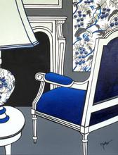 Brigitte THONHAUSER-MERK - Pintura - La chaise bleue
