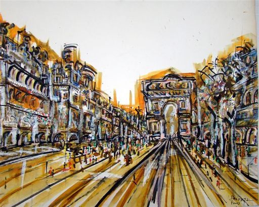 Albert SOCIAS - Painting - Champs Elysées