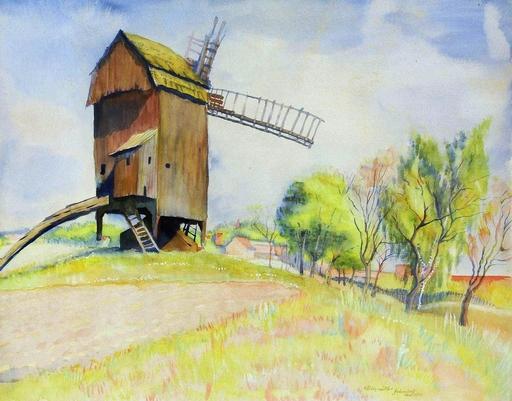 Conrad FELIXMÜLLER - Drawing-Watercolor - Windmühle bei Gebersdorf