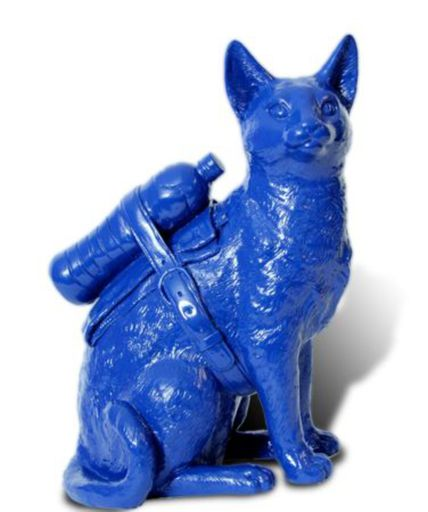 William SWEETLOVE - Print-Multiple - Small cloned Blue cat with water bottle