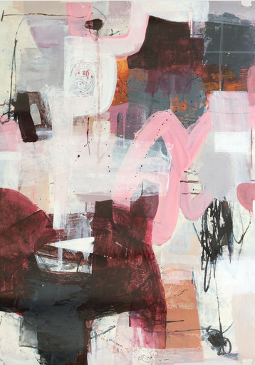 Linda COPPENS - Painting - Pieces of imagination V