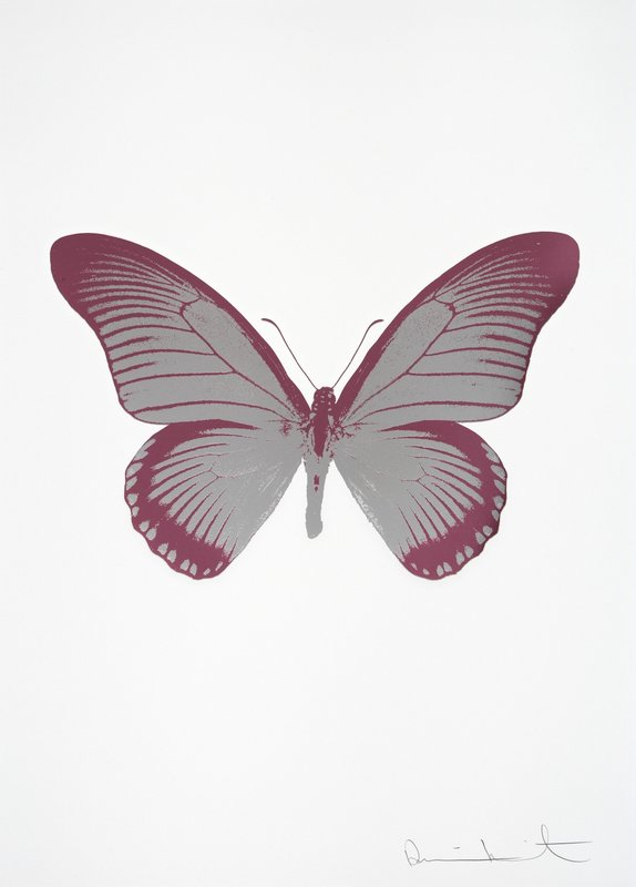 Damien HIRST - Print-Multiple - The Souls IV Silver Gloss - Loganberry Pink