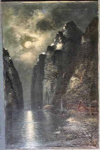 Olav BRYSTORP - Painting - Paisaje Nórdico