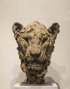 Patrick VILLAS - Skulptur Volumen - Tête de lionne II