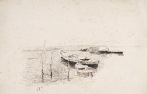 Luigi NONO - Drawing-Watercolor - Barche in Laguna