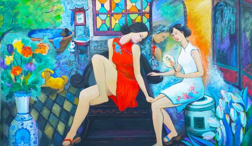 ZHENG Judy C. - Gemälde - Xiguan Style Bathroom