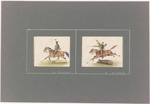 "Balthasar WIGAND (Attrib.) - Dibujo Acuarela - ""Hussars"", early 19th Century"