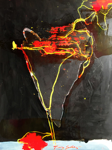 Tony SOULIÉ - Peinture - Dreamed Flower V                            .