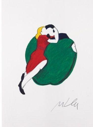 Marco LODOLA - Drawing-Watercolor - Senza titolo