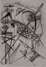 Wassily KANDINSKY - Grabado - Etching for the German Art Community