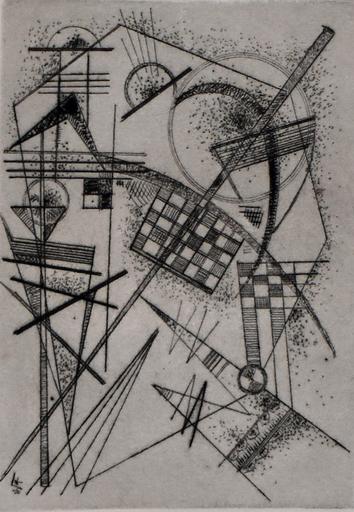 瓦西里•康定斯基 - 版画 - Etching for the German Art Community