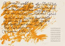 Günther UECKER - Print-Multiple - Huldigung an Hafez Nr. 22