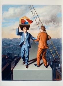 Stefano DI STASIO - Painting - DALL'ALTO