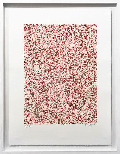 Günther UECKER - Print-Multiple - Permutation Rot auf Hellgrün
