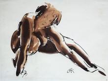 Georg KOLBE - Drawing-Watercolor - Kauernde