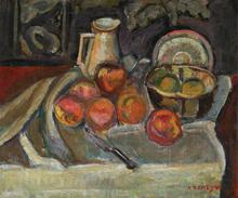Pinchus KREMEGNE - Peinture - Still Life and Apples