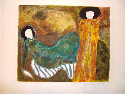 "Linda LE KINFF - 版画 - ""Hommage à Munch"""