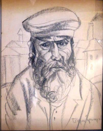 Boris Dimitrevitch GRIGORJEFF - Dibujo Acuarela - Two portraits
