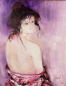 FRANCK L. - Painting - Nu de dos