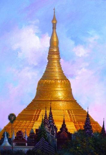 U MIN SOE - Painting - Shwedagon Pagoda