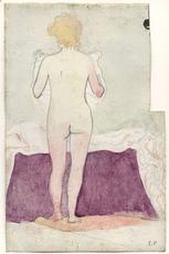 Édouard VUILLARD - Drawing-Watercolor - Nu de dos