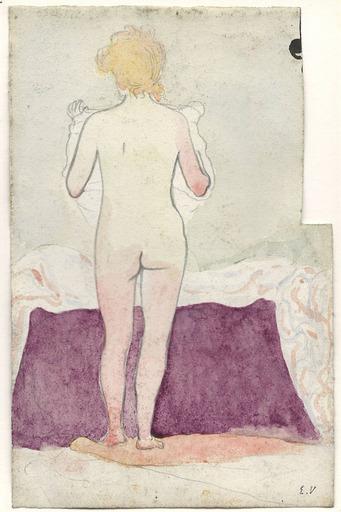 Édouard VUILLARD - Dibujo Acuarela - Nu de dos