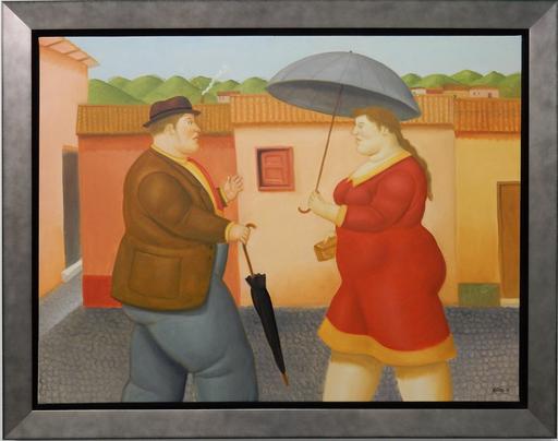 Fernando BOTERO - Painting - Man and Woman