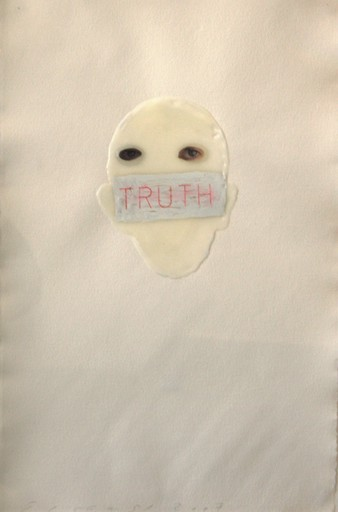 Jaume PLENSA - Drawing-Watercolor - Truth