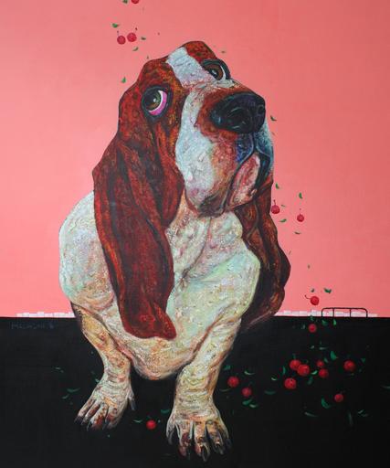 TANG Hai Guo - Peinture - 樱桃雨 Cherry Rain