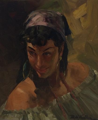 Martin DE WAELHEM - Painting - La gitane