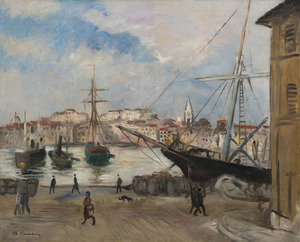 Charles CAMOIN - Painting - Marseille, le Canal de la Douane