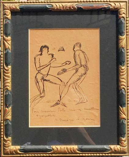 André Albert Marie DUNOYER DE SEGONZAC - Dibujo Acuarela - Les boxeurs