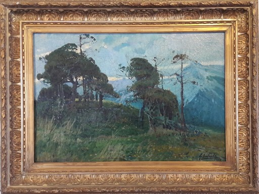 Fernando LABRADA - Painting - PAISAJE MALAGUEÑO