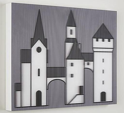 Julian OPIE - Print-Multiple - Medieval Village 3