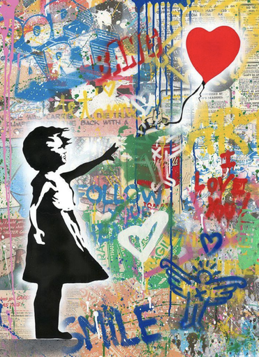MR BRAINWASH - Gemälde - Balloon Girl