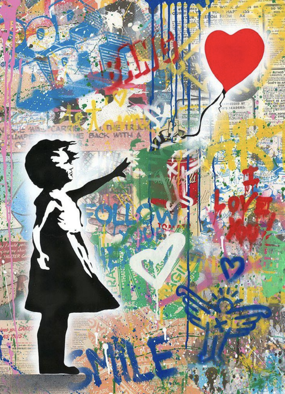 MR BRAINWASH - Painting - Balloon Girl