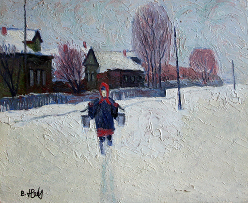 Valeriy NESTEROV - Gemälde - Walk to The Well