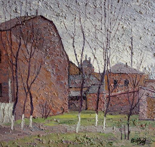 Valeriy NESTEROV - Pintura - Taganka court yard. Moscow